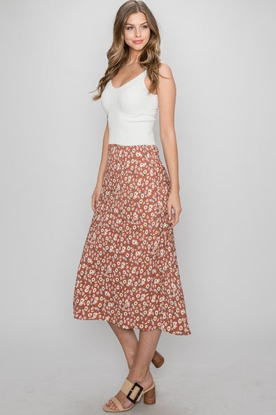 Full Bloom Midi Skirt