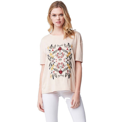 Spring Floral Embroidered Top-Final Sale - BLUE ORCHID