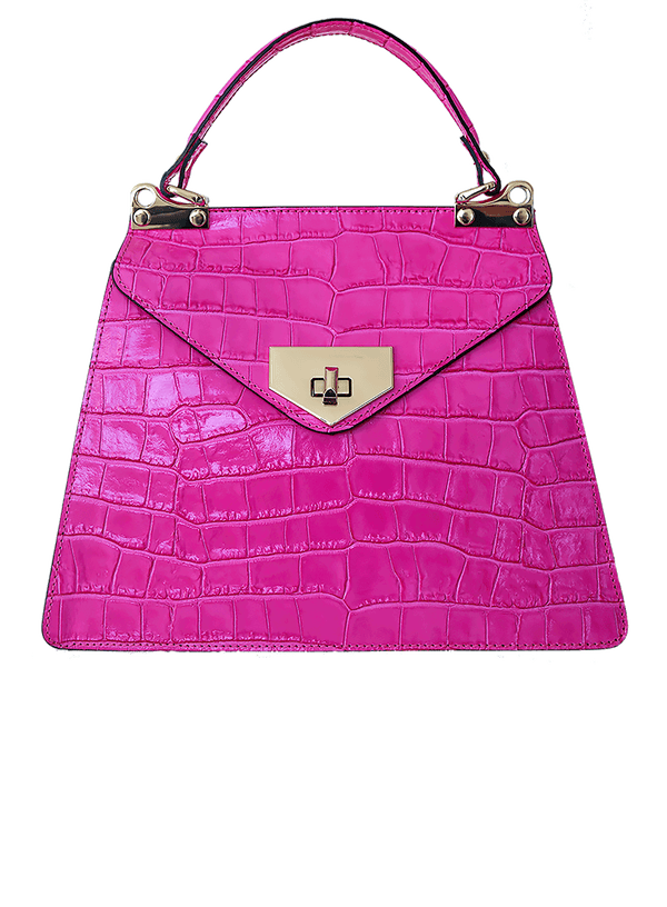 H+H Vittoria Top Handle Handbag - Pink