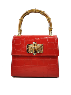H+H Gaia Top Handle Mini Bag - Red