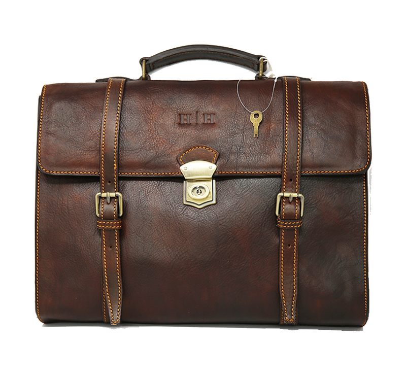 Seneca Convertible Backpack Briefcase Walnut