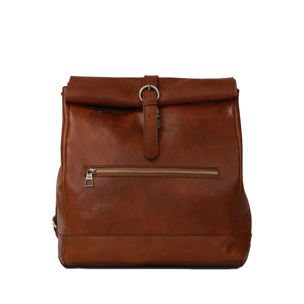 Reinald Roll Top Backpack Cognac