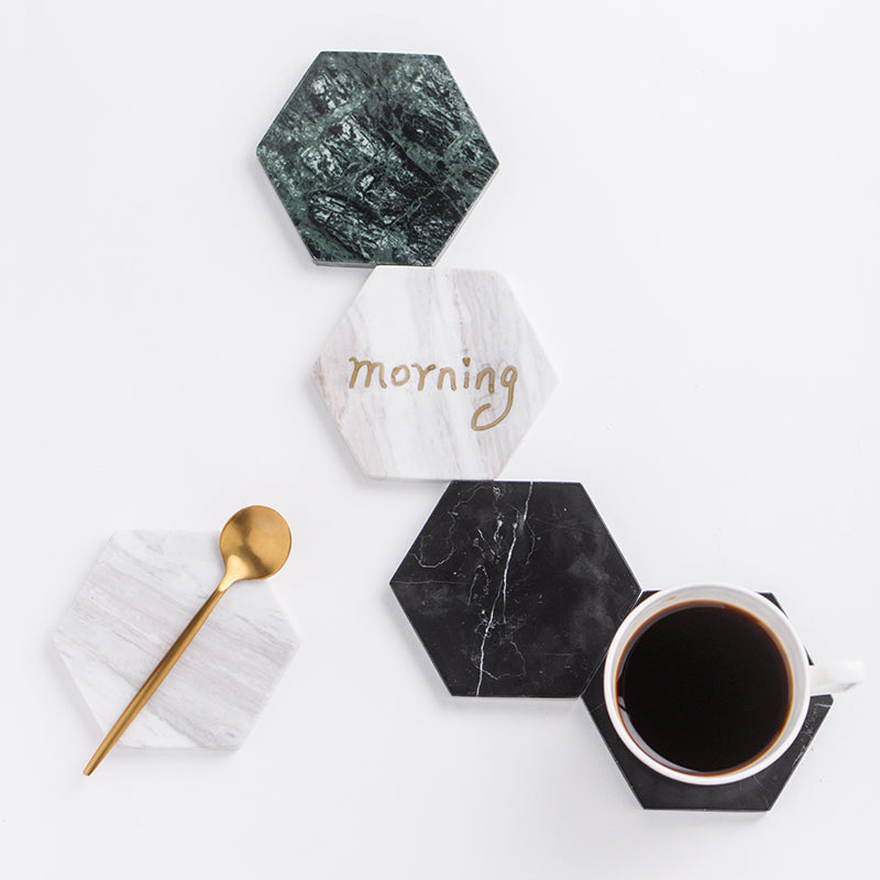 Marble Hexagon Coaster | Hygge North