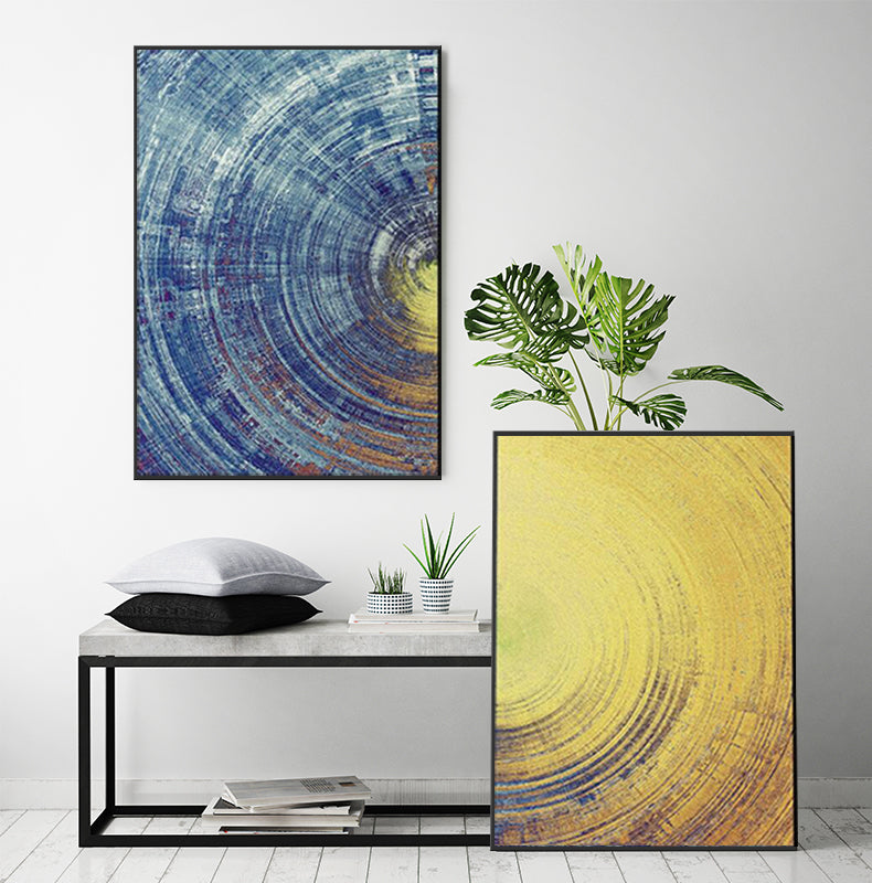 Blue Meets Yellow Abstract Print Set | Hygge North