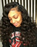 Jesvia Hair Brazilian Virgin Hair 4x13 Lace Frontal Loose Wave