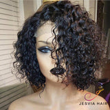 SPEICAL DEAL Free Shipping Jesvia Hair Middle Part Bob Wig With Pre Plucked Hairline Curly
