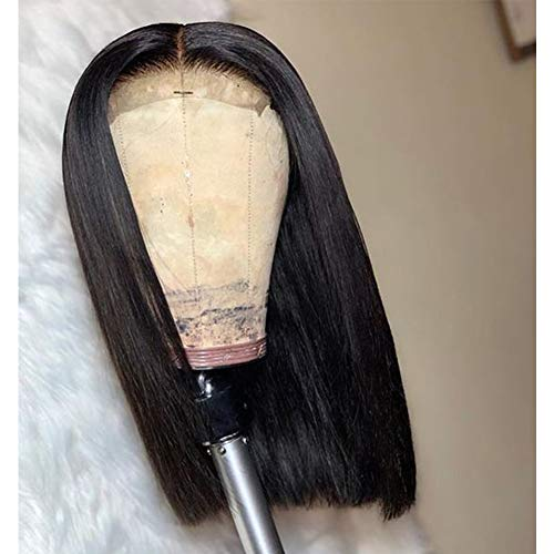 Free Shipping 6x6 Closure Bob Wig With Pre Plucked Hairline Straight Blunt Cut Jesvia Hair