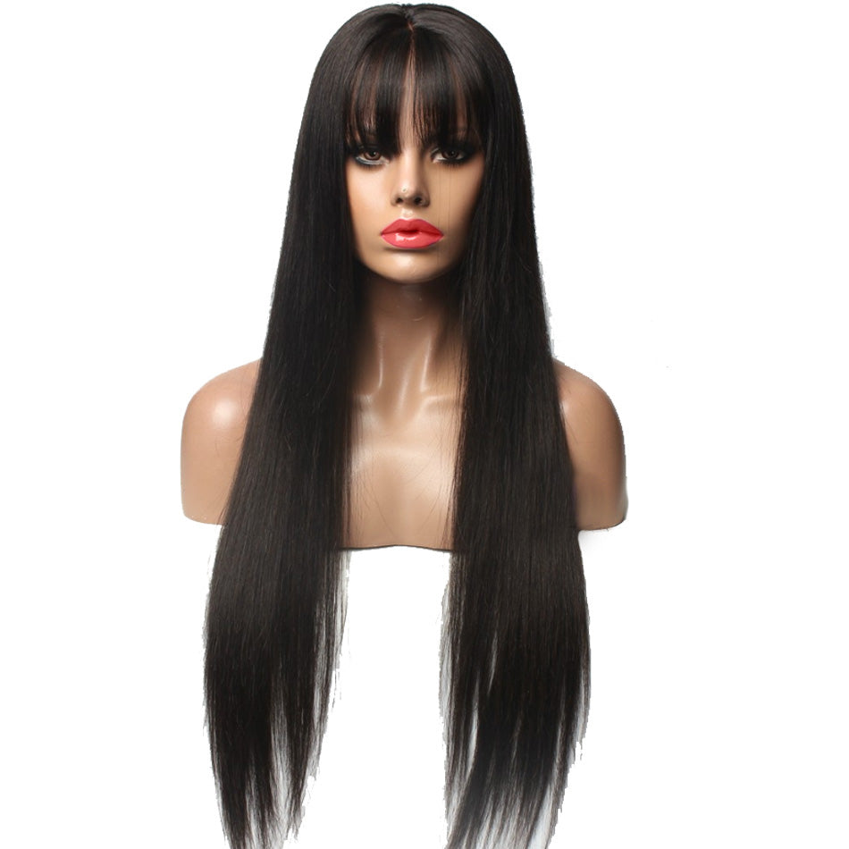 Jesvia Hair Lace Front Human Hair Wigs Pre Plucked With