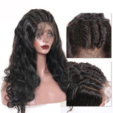 Jesvia Hair 250% Density 360 Pre Plucked Lace Frontal Wig with Baby Hair Around Body Wave