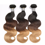 Jesvia Hair #1B/4/27 Tone Ombre Color Hair Body Wave