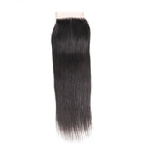 Jesvia Hair Brazilian Virgin hair 4x4 Top Closure Straight