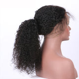Jesvia Hair 250% Density 360 Pre Plucked Lace Frontal Wig with Baby Hair Around Curly