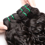 Jesvia Hair Brazilian Water Wave Hair 3 Bundles With 4x13 Lace Frontal