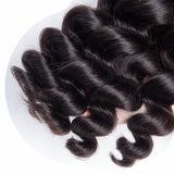 Jesvia Hair Brazilian Loose Wave Hair 3 Bundles With 4x13 Lace Frontal