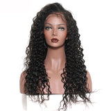 Jesvia Hair 250% Density 360 Pre Plucked Lace Frontal Wig with Baby Hair Around Deep Wave-DWW360