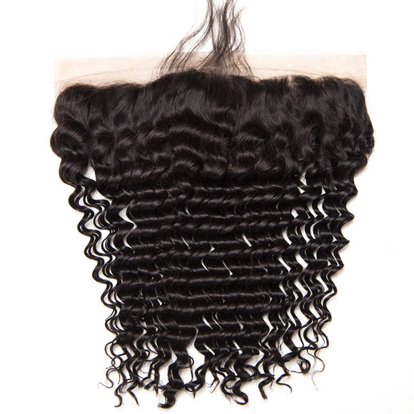 Jesvia Hair Brazilian Virgin Hair 4x13 Lace Frontal Deep Wave