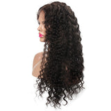 Jesvia Hair Lace Front Human Hair Wigs Pre Plucked with Baby Hair Brazilian Deep Wave-LWD22