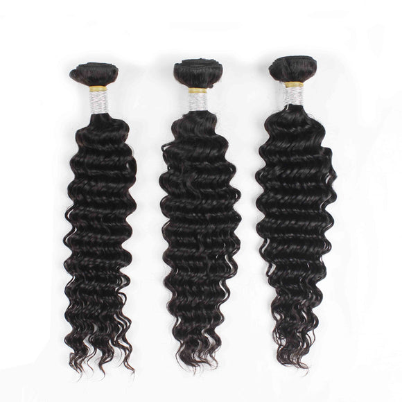 3 Bundles Deal Brazilian Hair Deep Wave Jesvia Hair