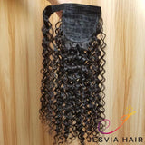 Free Shipping Ponytail Clip in Piece Virgin Human Hair Extension in Straight, Water wave, Body wave, Deep Wave, Kinky Straight Jesvia Hair