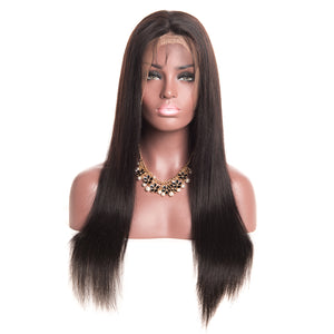 Jesvia hair Full Lace Human Hair Wigs With Baby Hair Brazilian Straight