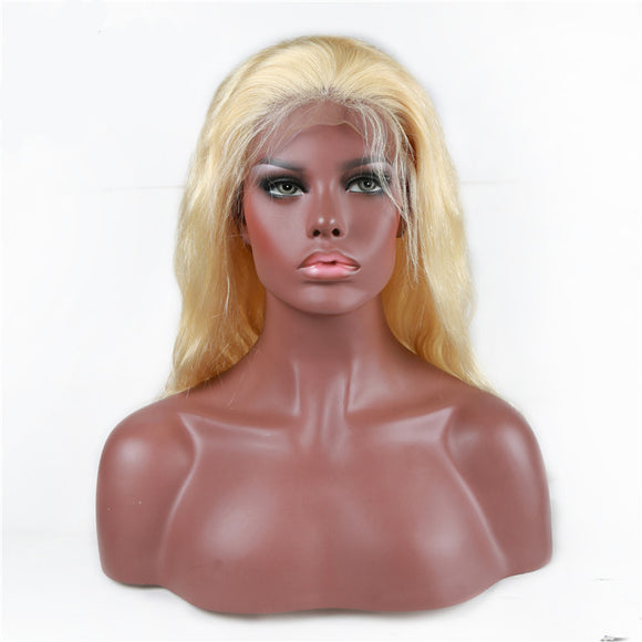 Jesvia Hair Pre Plucked Lace Frontal Wig #613 Blonde Color with Baby Hair Around Body Wave-JBB613