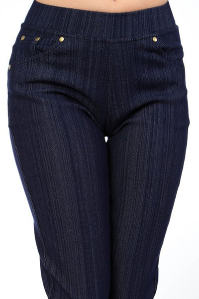 Thick and Heavy Jeggings, Navy