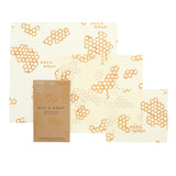Bee's Wrap Reusable Beeswax Food Saver - Set of 3