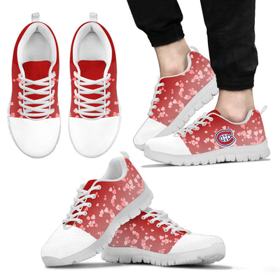 Heart Flying Valentine Sweet Logo Montreal Canadiens Sneakers