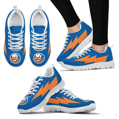 Cool Style New York Islanders Sneakers Thunder Lightning Amazing Logo