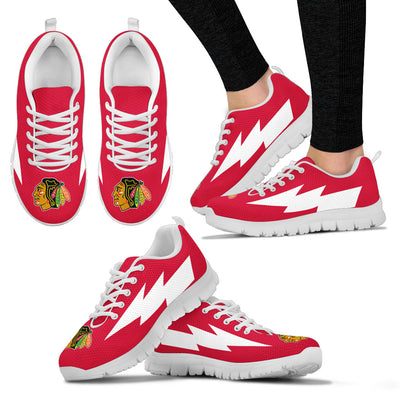 Colorful Chicago Blackhawks Sneakers Thunder Lightning Amazing Logo