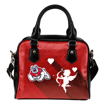 Superior Cupid Love Delightful Fresno State Bulldogs Shoulder Handbags