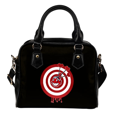 Valentine Sweet Cleveland Indians Dart Couple Love Shoulder Handbags