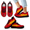Colorful Louisville Cardinals Sneakers Thunder Lightning Amazing Logo