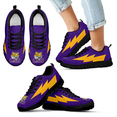 Gorgeous Style LSU Tigers Sneakers Thunder Lightning Amazing Logo