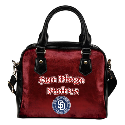 Love Icon Mix San Diego Padres Logo Meaningful Shoulder Handbags