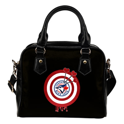 Valentine Sweet Toronto Blue Jays Dart Couple Love Shoulder Handbags