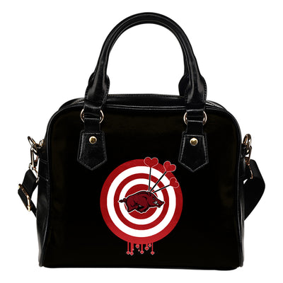 Valentine Sweet Arkansas Razorbacks Dart Couple Love Shoulder Handbags