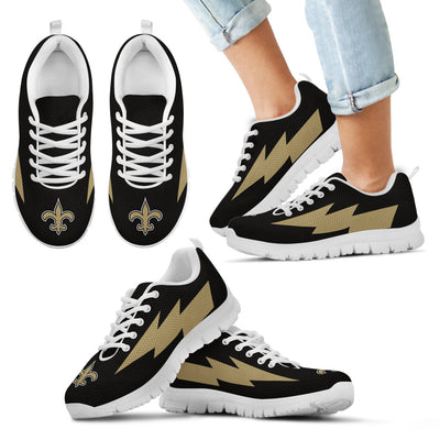 Awesome New Orleans Saints Sneakers Thunder Lightning Amazing Logo