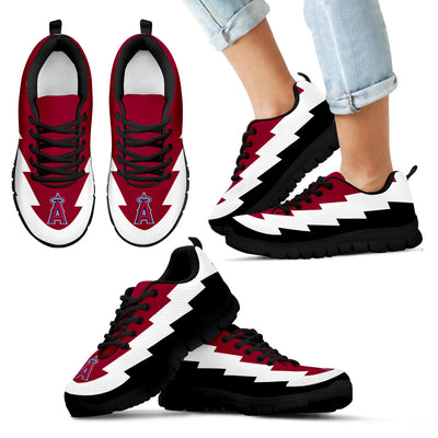 Beautiful Los Angeles Angels Sneakers Jagged Saws Creative Draw