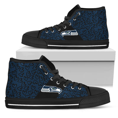 Perfect Cross Color Absolutely Nice Seattle Seahawks High Top Shoes