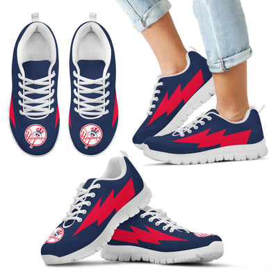 Funny New York Yankees Sneakers Thunder Lightning Amazing Logo