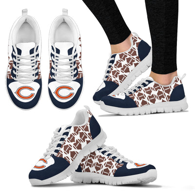 Great Football Love Frame Chicago Bears Sneakers