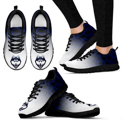 Leopard Pattern Awesome Connecticut Huskies Sneakers