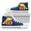 Pikachu Laying On Ball Navy Midshipmen High Top Shoes