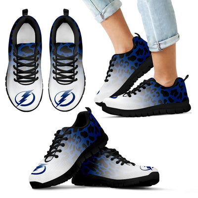 Cool Tampa Bay Lightning Sneakers Leopard Pattern Awesome
