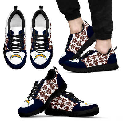 Great Football Love Frame Los Angeles Chargers Sneakers