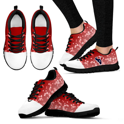Heart Flying Valentine Sweet Logo Houston Texans Sneakers