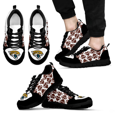 Great Football Love Frame Jacksonville Jaguars Sneakers