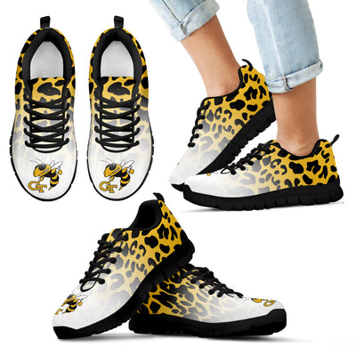 Leopard Pattern Awesome Georgia Tech Yellow Jackets Sneakers