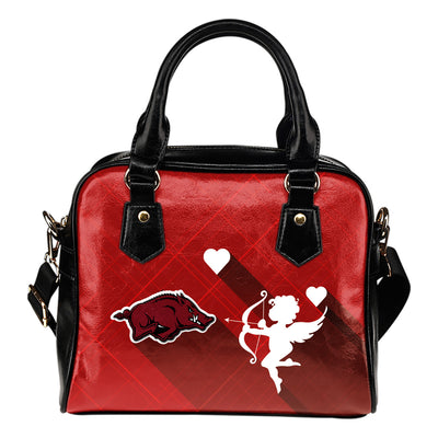 Superior Cupid Love Delightful Arkansas Razorbacks Shoulder Handbags